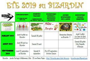 Cet été au Bizardin : bienvenue !